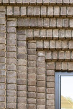Brick Design, Facade Design, Brick Architecture, Architecture Details, Brick Facade, Brick Wall, Brick Extension, Brick Works, Brick Detail