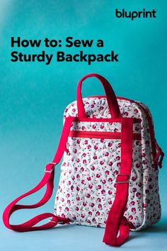 Sew Sturdy: The Essential Backpack Sewing Class Free Printable Sewing Patterns, Free Sewing, Sewing Hacks, Sewing Tutorials, Sewing Tips, Diy Rucksack, Backpack Pattern, Backpack Tutorial, Backpack Sewing Patterns