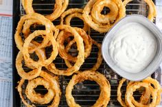Old Fashioned Onion Rings Recipe - 1 large onion, cut into in slices 1 cups flour 1 teaspoon baking powder 1 teaspoon salt 1 egg 1 cup milk, as needed cup breadcrumbs, dry seasoning salt oil, for frying approx 1 qt Most Popular Recipes, Great Recipes, Favorite Recipes, Top Recipes, Onion Rings Recipe, Thin Mints, Pinterest Recipes, Pinterest Food, Pinterest Popular