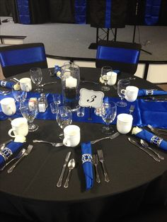 black and blue party theme
