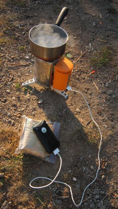 BioLite Stoves - Boil water (for purification, coffee, tea, etc.) and charge your gadgets.