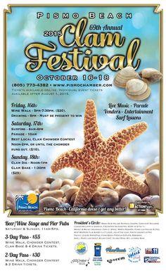 10/16-18/15 Pismo Beach Clam Festival