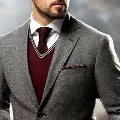 Burgundy Tie & Sweater