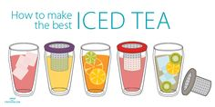 How to make the best iced tea. The secret? Use loose leaf tea and add a little simple syrup. Easy!