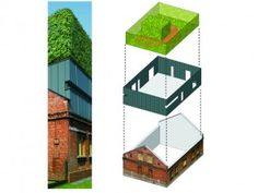 D-House Urban Sandwich: Aging Polish home renovated with a sky garden oasis