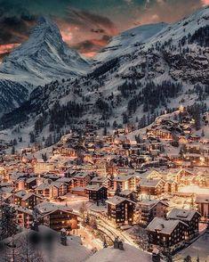 Zermatt, Switzerland Picture by via : wonderful_places Zermatt, Grindelwald Switzerland, The Places Youll Go, Places To See, Winter Scenery, Beautiful Places To Travel, Wonderful Places, Amazing Places, Travel Aesthetic