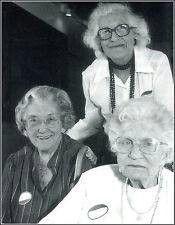 Eva Hart left, Millvina Dean center, Edith Brown Haisman right