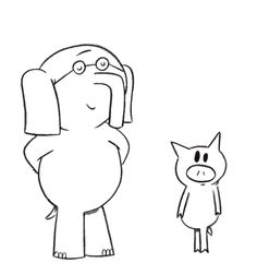 Elephant And Piggie Coloring Page elephant and piggie