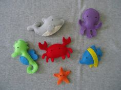 Felt Ocean Friends  FREE SHIPPING US Domestic by Tuscanycreative, $20.00