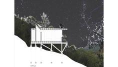 Image 13 of 17 from gallery of La Pajarera Lodge Shangri-La / SAA arquitectura + territorio. Photograph by SAA arquitectura + territorio Shangri La, Oak Forest, Steel House, Architecture Drawings, Cabana, Mountain Range, Skylight, Canopy, Chile