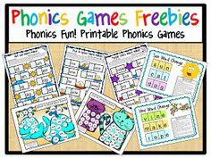 I love using phonics games to help kids develop their knowledge of basic letter patterns. That's why I have created lots and lots of phonics. Phonics Reading, Teaching Phonics, Phonics Activities, Kindergarten Literacy, Language Activities, Early Literacy, Teaching Reading, Reading Activities, Phonics Games For Kids