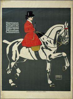 Ludwig Hohlwein. Hermann Scherrer Sporting and Ladies-Tailor, München, Neuhauserstr. 32. 1908