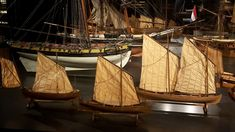Models at the Rijksmuseum in Amsterdam. Unknown modeller. (Lugger sails, clinker built).