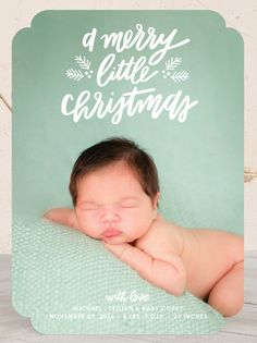 Baby's First Christmas Photo Card. The most darling announcement for your loved ones this holiday season. Customize with your photo on Minted.com