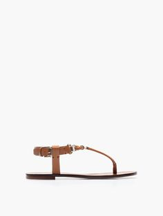 SANDAL WITH LEATHER PIECE