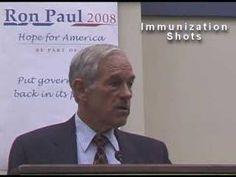 ▶ Ron Paul On Immunization Shots - YouTube