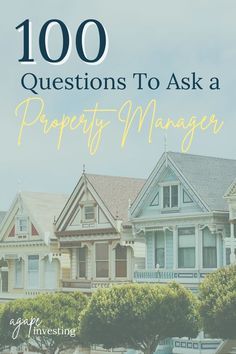 The property manager you choose to manage your rentals can make or break your real estate investing career. That is why it is extremely important to find one who will take great care of your property. After all, that is why you are hiring them and not managing it yourself right? That is why we came up with this Ultimate Property Manager Question Guide full of over 100 questions to ask a property manager. #propertymanager #propertymanagement #rentalproperties #realestateinvesting 100 Questions To Ask, Buying A Rental Property, Tenant Screening, Phone Interviews, Home Buying Tips, The Tenant, First Time Home Buyers, Real Estate Investing, Property Management