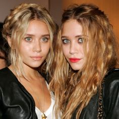 The Olsen Twins. always sporting fabulous hair. This time its the relaxed, casual look and we love it. you go girls!