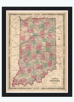 Wabashriver Map River Wabash River The Wabash Is The Longest River - Indiana state on us map