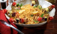 Have a truly #Italian dish with this grilled #spaghetti #recipe!