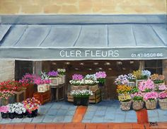 Davi D'Agostino - Bushels of Color at Cler Fleurs- Oil - Painting entry - August 2015 | BoldBrush Painting Competition