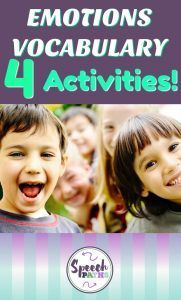 Teach young children emotions vocabulary with these fun activities!  Free downloads included.