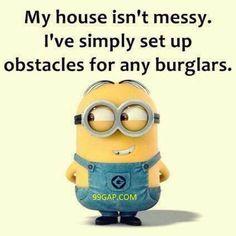 Funny Minion Joke About Burglars vs. Messy House