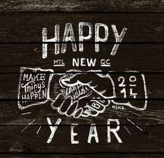 HAPPY NEW YEAR by MEKA , via Behance