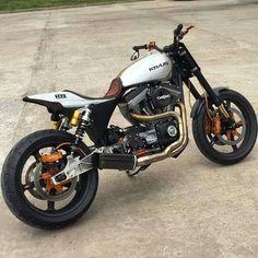 Kraus Street Tracker Harley-Davidson #motorcycles #streettracker #motos | caferacerpasion.com