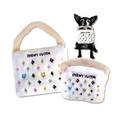 Chewy Vuiton Purse Dog Toy for Small Dogs