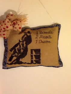 Barrel Racing Burlap Door Decor On Etsy 25 00
