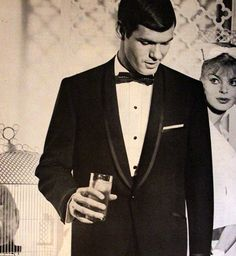 1961  After Six Tuxedo Ad  Menswear  Tux  Suit by SnowFireCandleCo