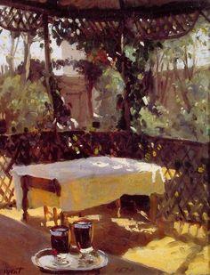 """John Singer Sargent. """"Two Wine Glasses""""....Bellissimo effetto Sole....Talento starordinario"""