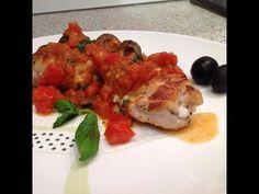 Фаршированная куриная грудка с томатным соусом - кулинарный рецепт
