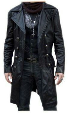 How to buy leather coats for yourself leather coats handmade men black biker leather coat, men leather coat, men long leather coat, JABBTOA Long Leather Coat, Biker Leather, Leather Men, Men's Leather Jackets, Black Leather, Mode Masculine, Mode Costume, Revival Clothing, Gothic Outfits