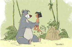 Steve Thompson Art | The Jungle Book | Disney El Libro de la selva | @dgiiirls