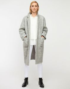 everything on her is from need supply. love the white on white. and NEED the coat.