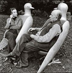 Les Lalannes! Sculptors Francois-Xavier Lalanne & (wife) Claude Lalanne
