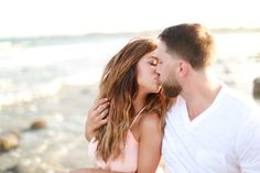 Photography: Lindsey Mae Child - www.lindseymaephotography.com  Read More: http://www.stylemepretty.com/2014/07/17/romantic-beach-engagement-at-sunset/