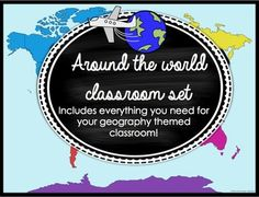 Everything you need for an Around the World classroom... schedule cards, jobs, signs, calendar, binder covers, and more!
