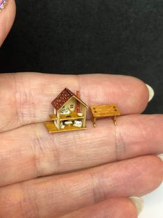 Market Store Dollhouse Miniature Kitchen Produce Crate 1:24 or small 1:12 Food