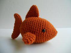 Burnt Orange Fish Amigurumi Crochet Plush by 72stitches on Etsy