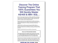 ① As/400 & Ibm Sql Online Study Course - http://www.vnulab.be/lab-review/%e2%91%a0-as400-ibm-sql-online-study-course