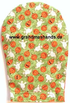 Ghost and Pumpkin Ostomy Bag Cover