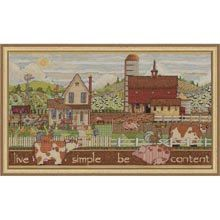 COUPON  Cross Stitch Kit  Live Simple Be by CrossStitchKitsOnly, $22.00