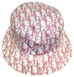 634ec12ec1297 Vintage Pink Miss DIOR Logo Bucket Hat