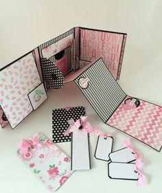 Baby Girl Scrapbook Album with Flowers - Mini Album in a Box - Journal Book for New Baby - Accordion Style Photo Album - Album in a Box - Pink and Black First Year Memory Album - New Arrival Mommy and Me Mini Album  This listing is for One (1) Pink and Black Baby Girl Photo Album as shown- The exact album will be shipped via USPS  It is truly difficult to capture the details of this album in 5 photos; I would be happy to send additional photos to you.  .............Specifics Of…