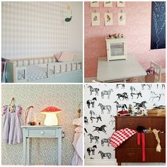 10 GREAT KIDS ROOMS WITH WALLPAPER Nellystella Chloe Dress in the background.