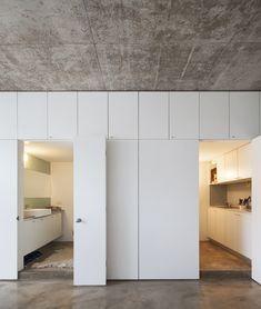 The Smarter Bunker - LifeEdited Mini Loft, Loft App, Concrete Ceiling, Low Cost Housing, Small Studio Apartments, Micro Apartment, Space Interiors, Bedroom Interiors, Compact Living
