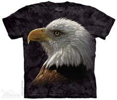 The Mountain Unisex-Adult Bald Eagle Portrait Short Sleeve T-Shirt Black Adult Small Kids Tops, Eagle Shirts, Personalized T Shirts, Ink Color, Portrait, Classic T Shirts, T Shirts For Women, Tees, Animals